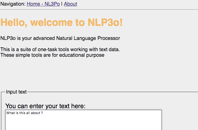NLP3o: A web app for simple text analysis – Look back in respect